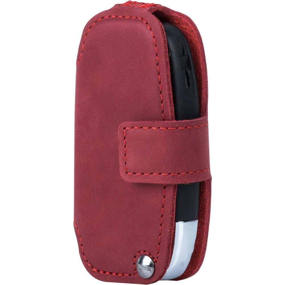 Car key case (remote control) for the car - Nubuk Red