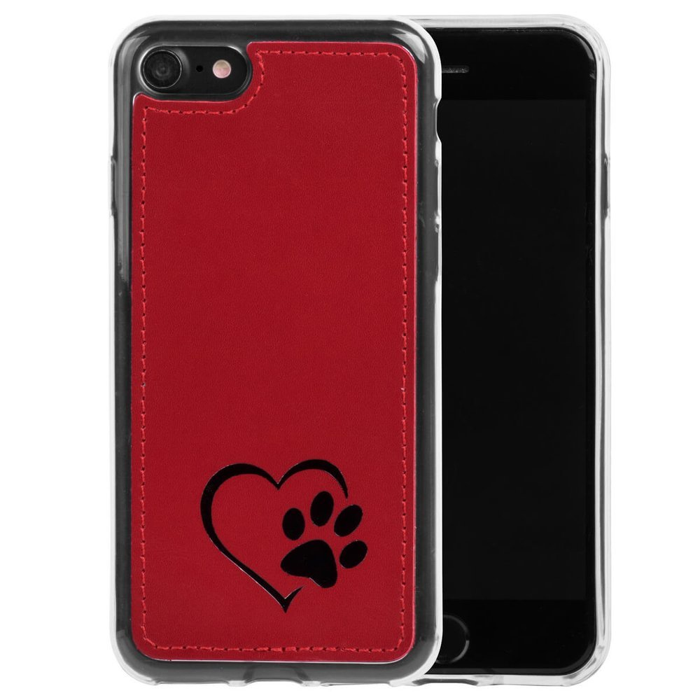 Back case - Costa Red - Heart and paw