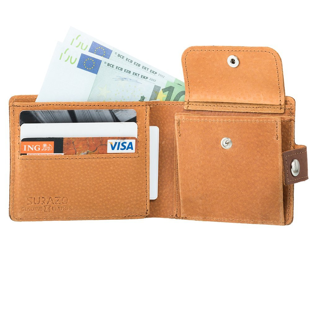 Classic wallet with card slot - Nubuk Nut