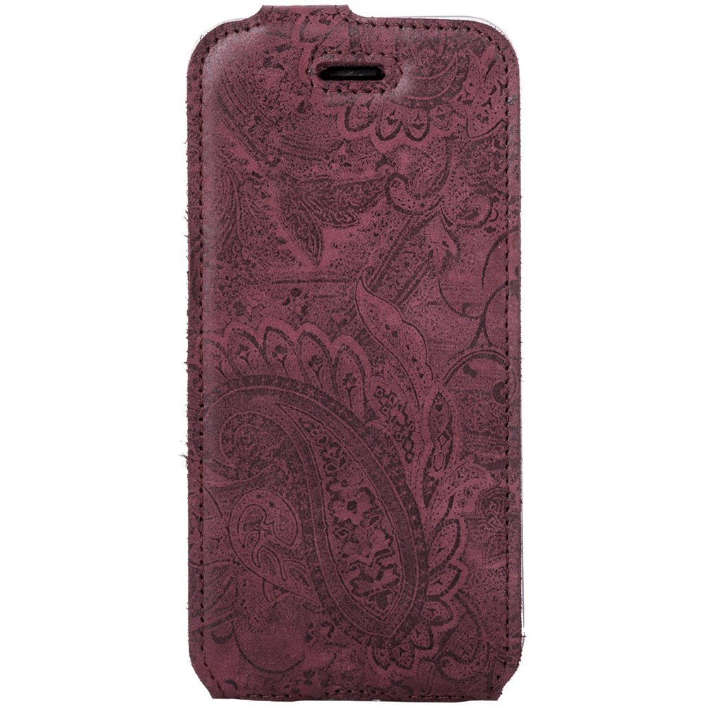 Flip case - Ornament Burgundy