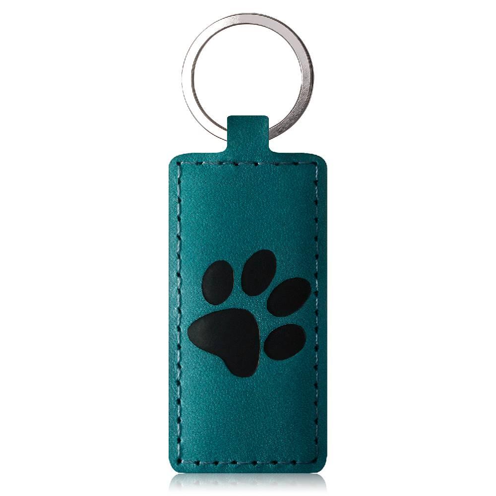 Keychain - Nubuck Turquoise - Black Paw