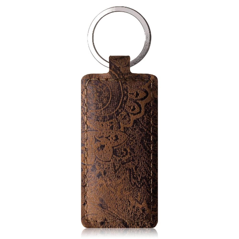 Keychain - Ornament Nut Brown