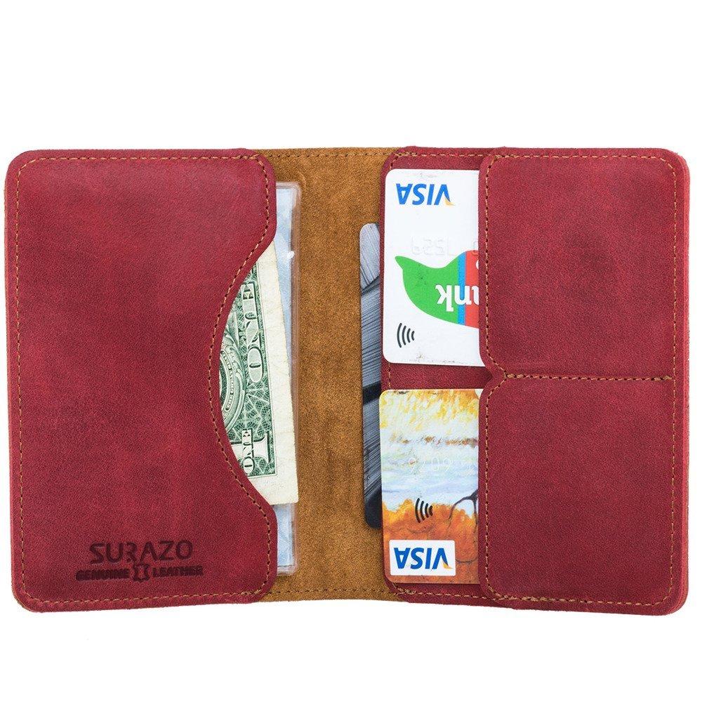 Slim Bifold Wallet RFID - Nubuck Red