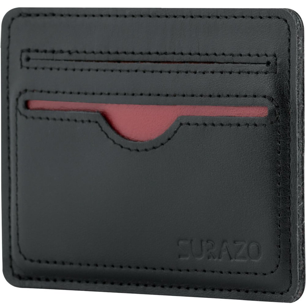 Slim Card Wallet - Black