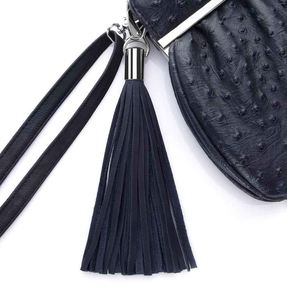 Tassel Purse pendant - Navy Blue