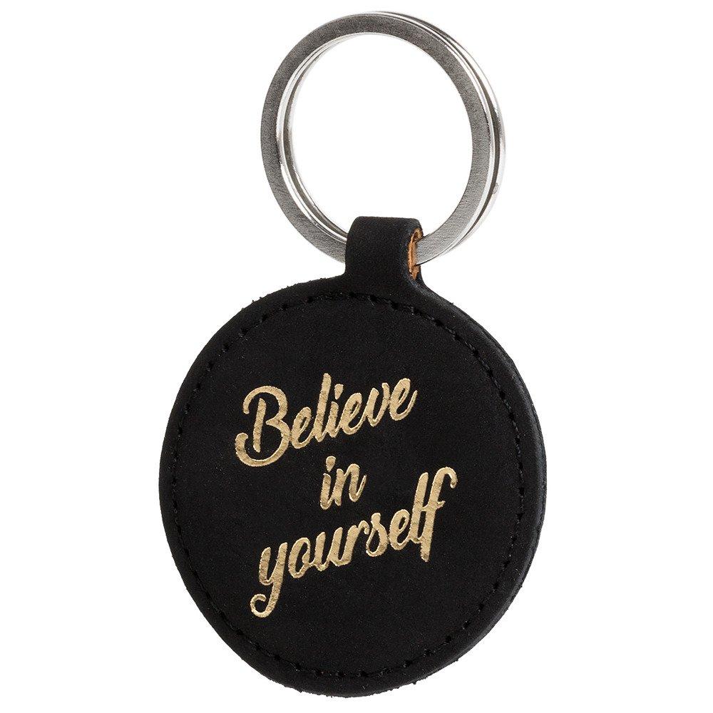 Schlüsselanhänger - Nubuk Schwarz - Believe in yourself