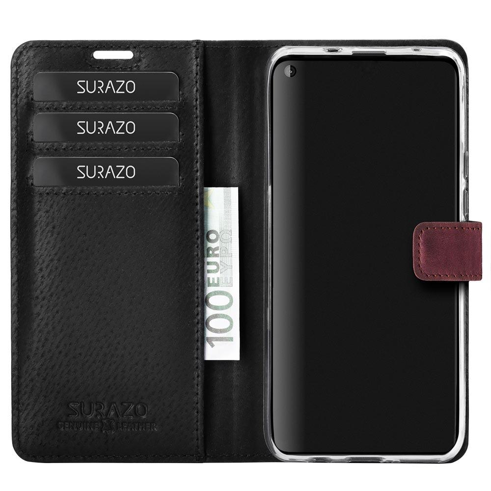 Wallet case - Nubuk Burgund - Pfote schwarz