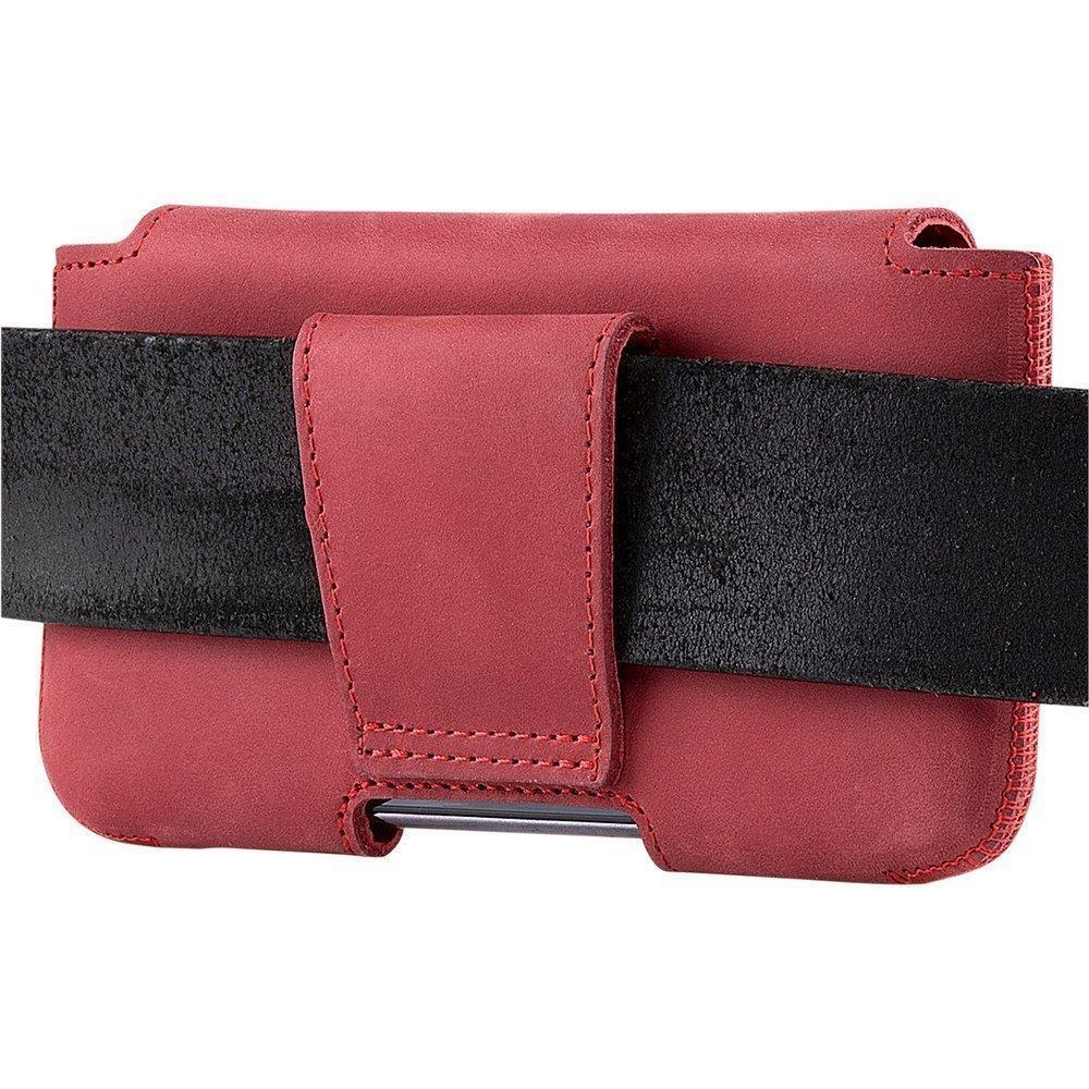 Belt case - Nubuk Czerwony