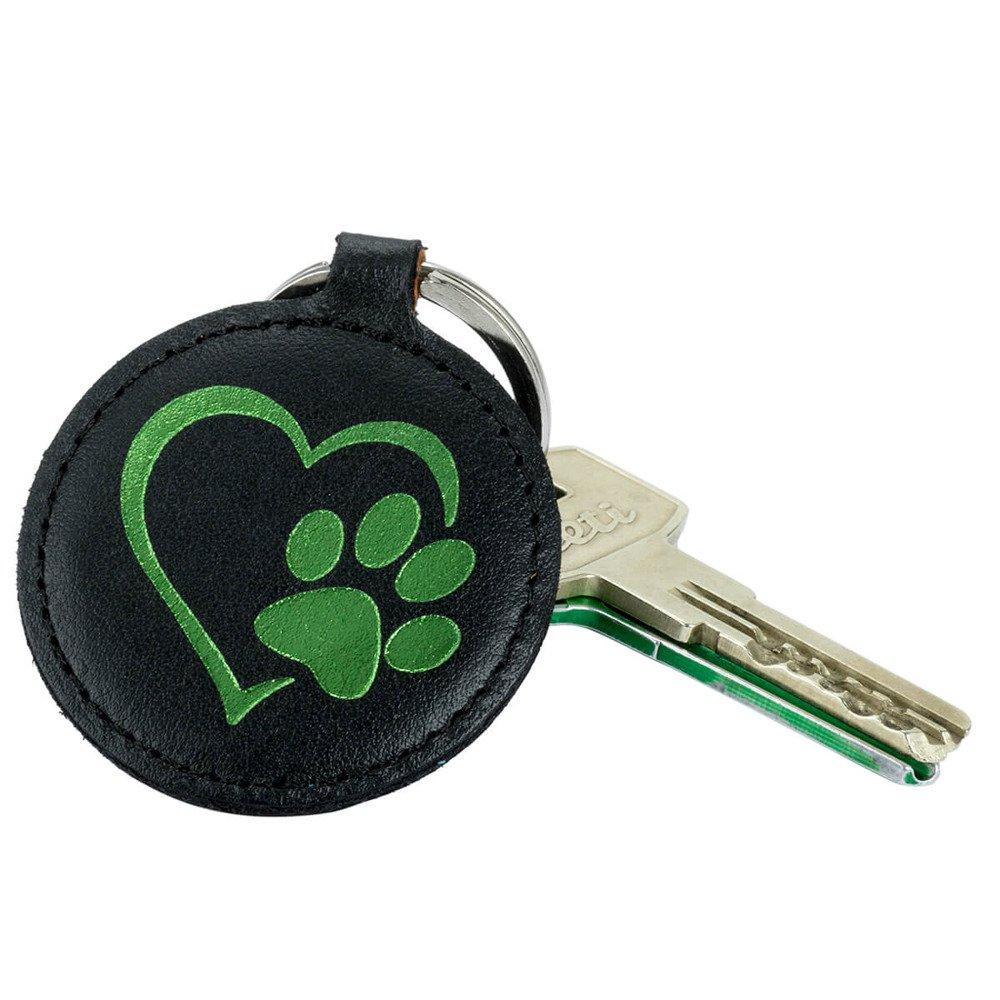 Brelok na klucze - Costa Czarna - Zielona Łapa w Sercu