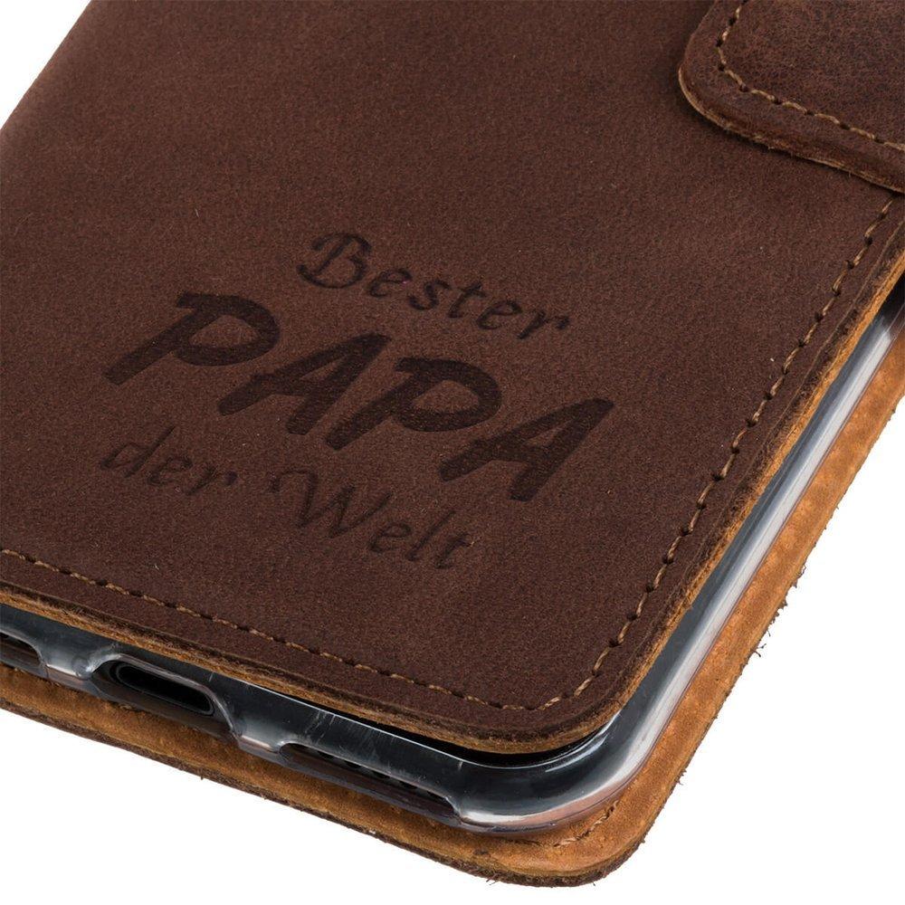 Wallet case - Nubuk Orzechowy - Bester Papa